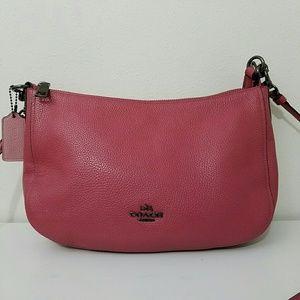 Coach Pink Leather Crossbody Handbag Purse